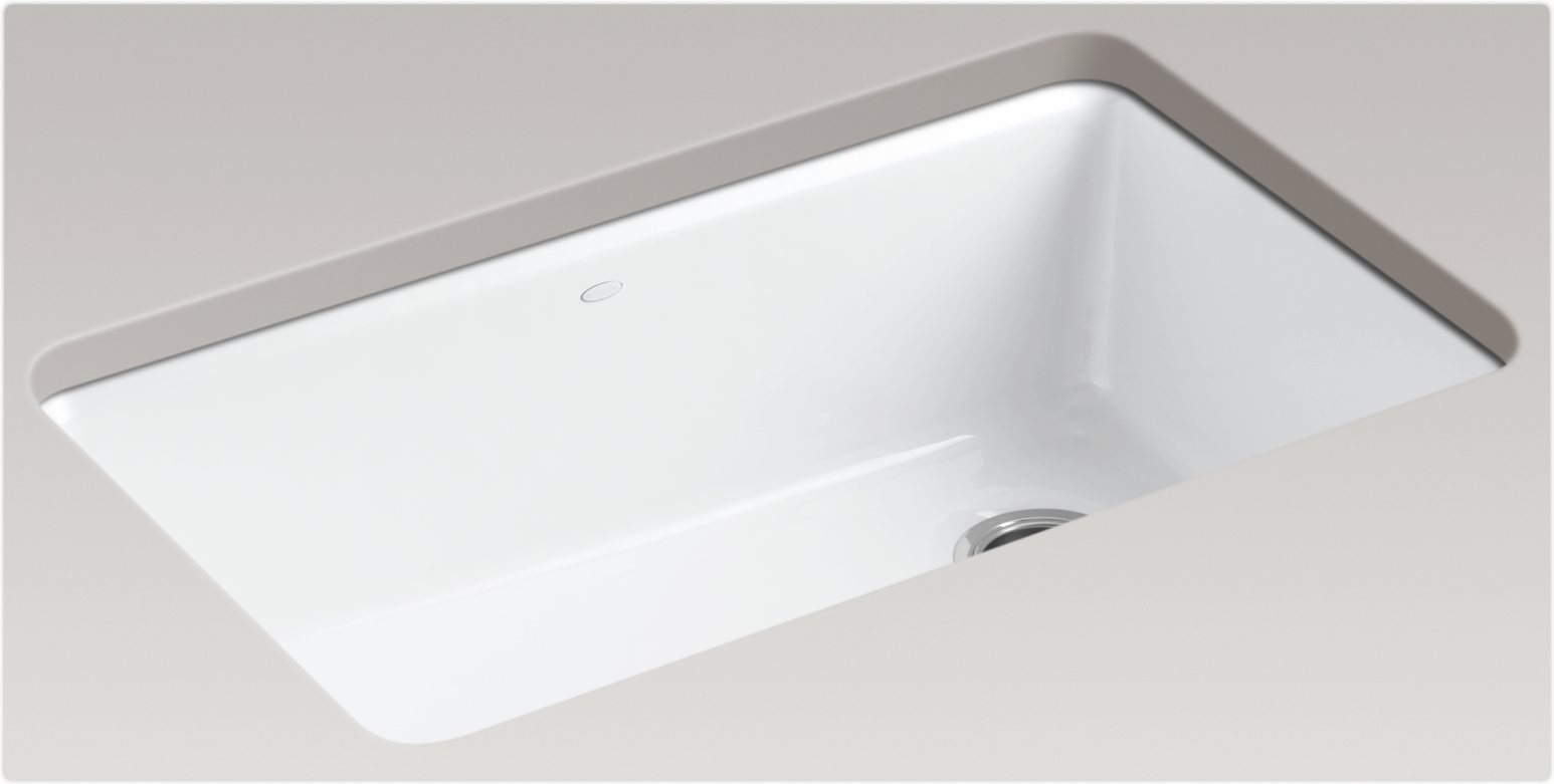 White Kohler Sinks With Gray Countertop Ideas