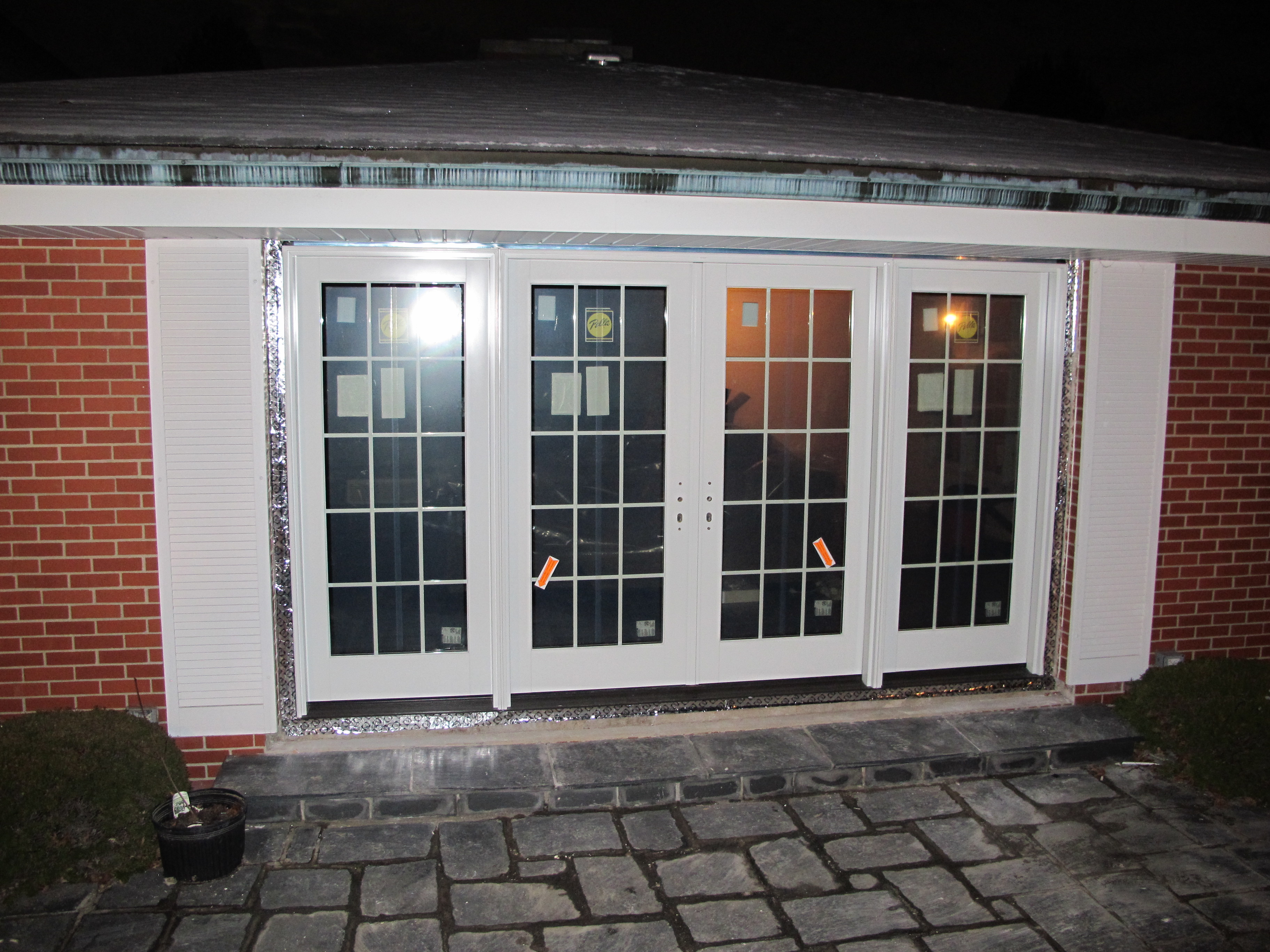 White Pella Windows Matched With White Wall For Home Exterior Ideas