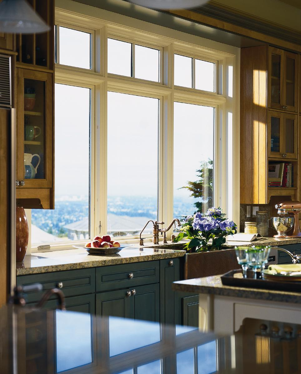 white pella windows plus kitchen cabinets with sink and faucet for kitchen design ideas