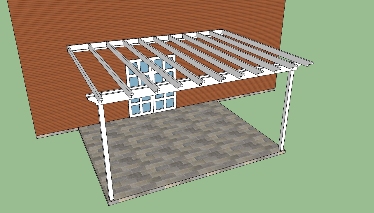 white Pergola Plans ideas with brown wall and white door plus grey floor