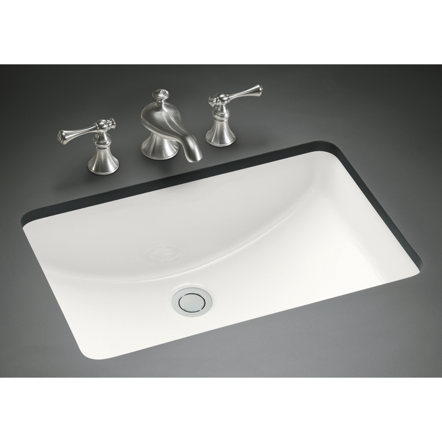 white rectangle kohler sinks plus faucet with black countertop ideas