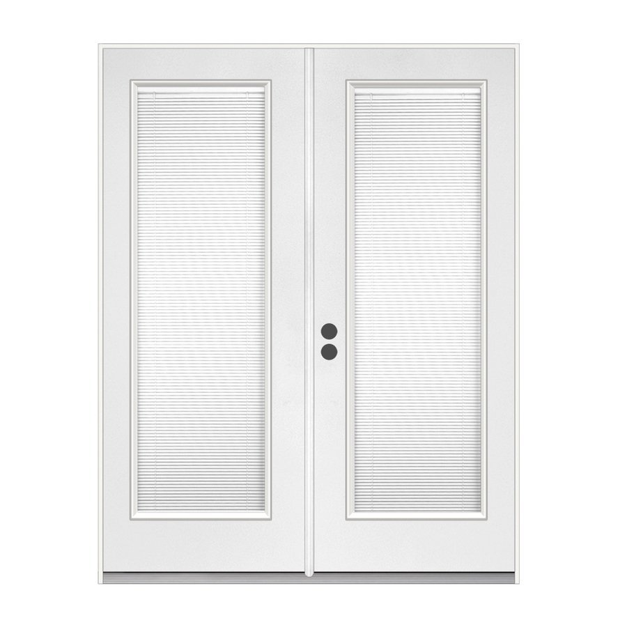 white reliabilt doors with black doorknob handle ideas