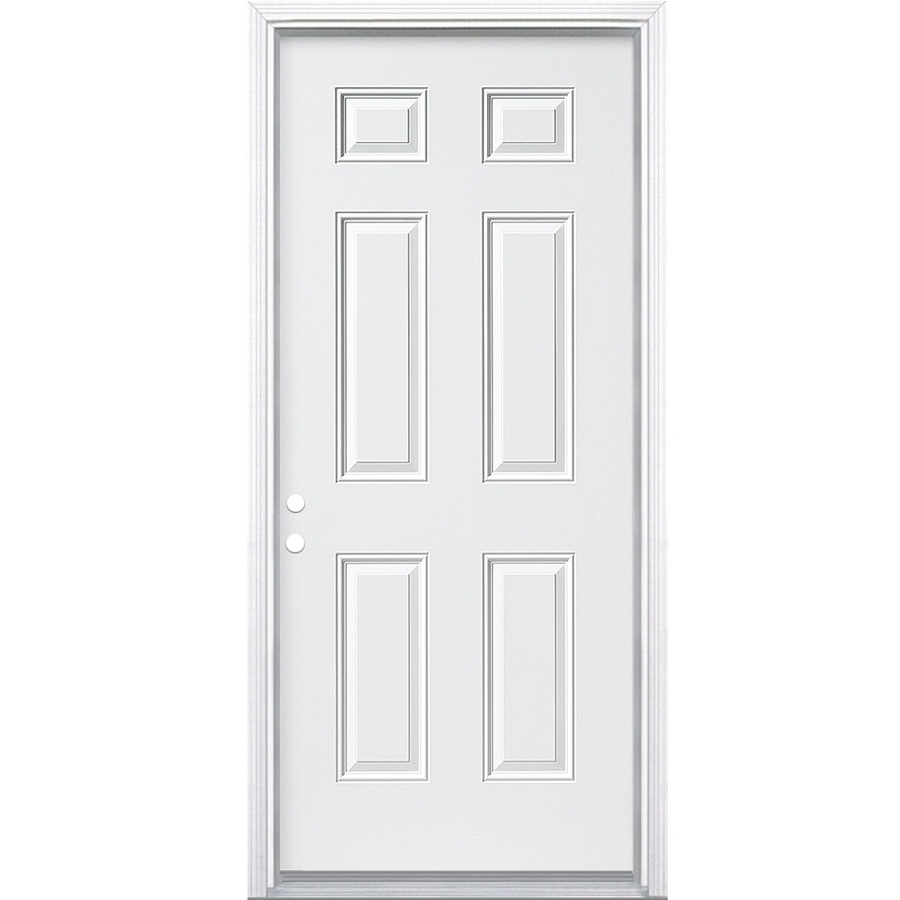 white Reliabilt Doors With white handle for door ideas