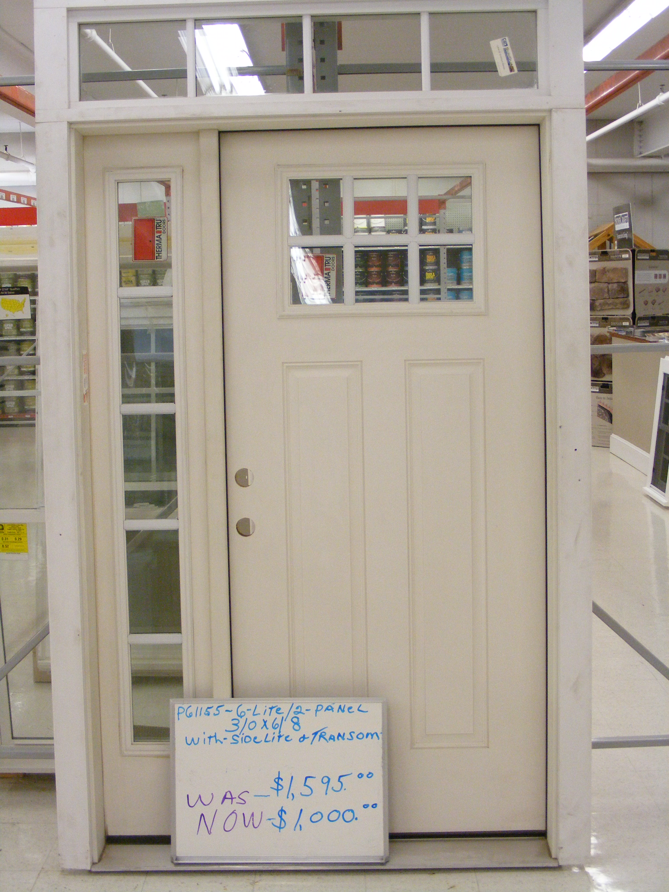 Door: White Therma Tru Entry Doors On Sale