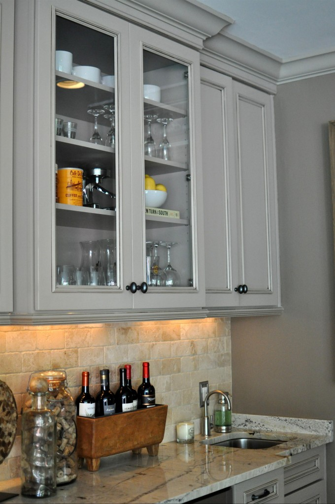 White Wellborn Cabinets With Sink Plus Faucet For Kitchen Furniture Ideas