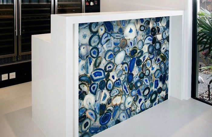 wonderful caesarstone in blue dominant for back splash ideas
