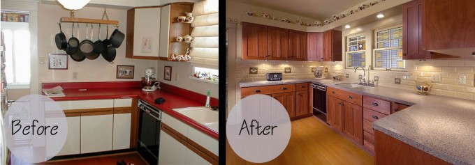 Wonderful Kitchen Cabinet Refacing With Stone Veneer Panels Wall And Wooden Floor