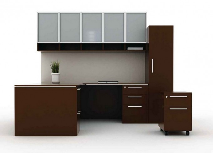 Wonderful L Shaped Desk With Hutch And Storage Plus Computer Stand For Smart Home Office Furniture Ideas