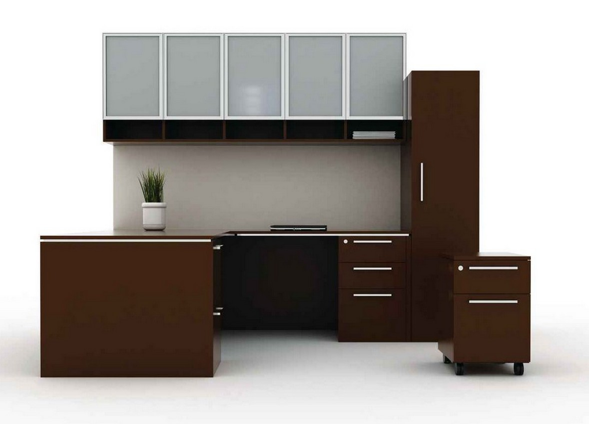 wonderful l shaped desk with hutch and storage plus computer stand for smart home office furniture