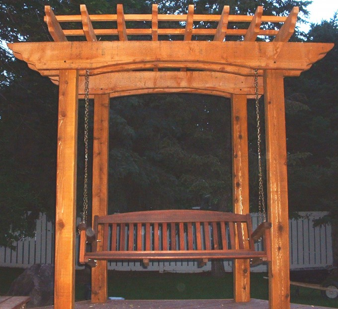 Wood Pergola Plans With Swing Ideas For Charming Yard Decor Inspiration