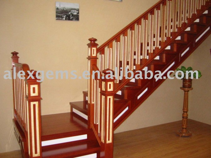 Wood Staircase Handrails For Stairs In Brown For Beautiful Stairs Ideas With Cream Wall And Wooden Floor
