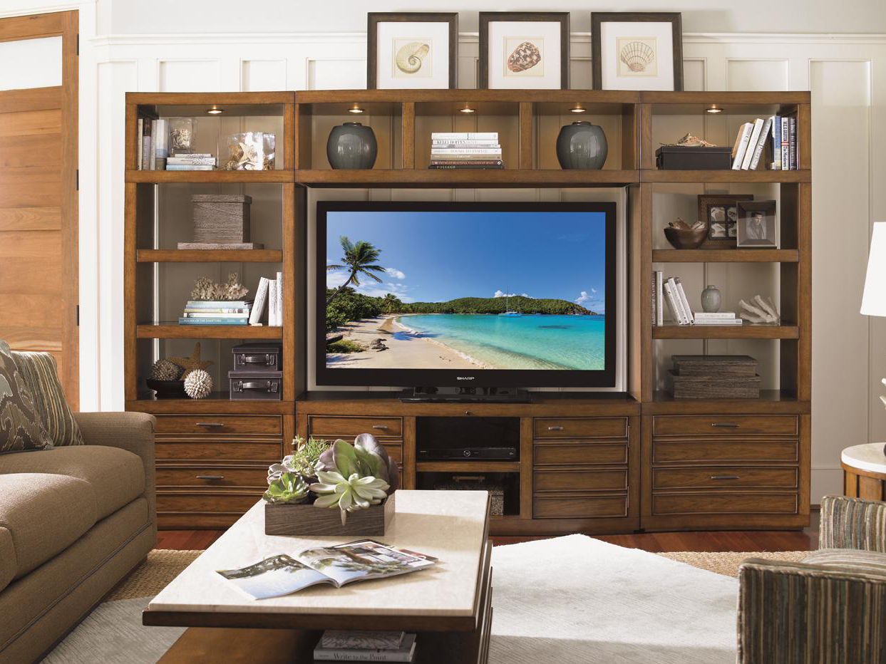 wooden cabinet with tv stand by sprintz furniture plus tan sofa and wooden floor plus carpet ideas