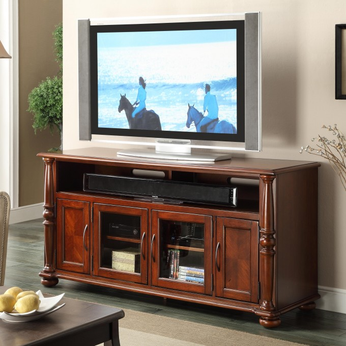 Wooden Dresser By Sprintz Furniture With Tv Before Cream Wall Ideas