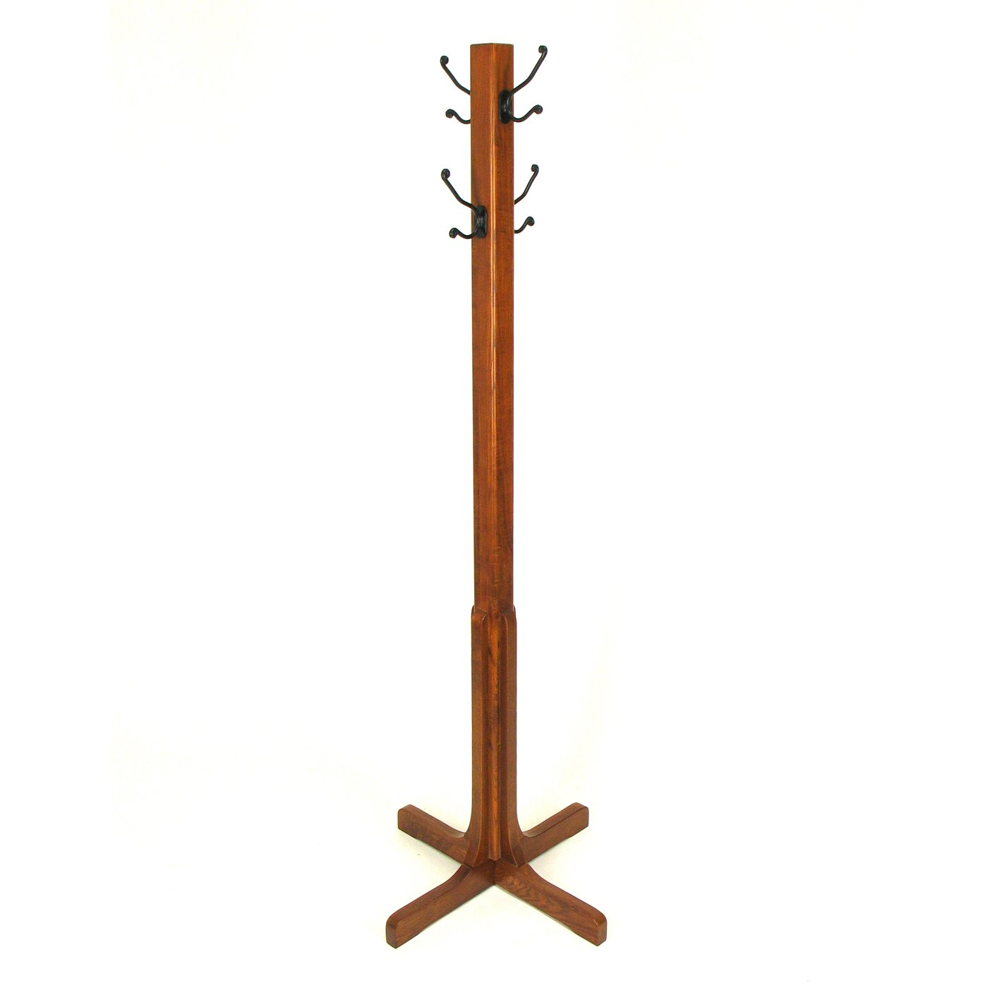 wooden Standing Coat Rack with black hanger