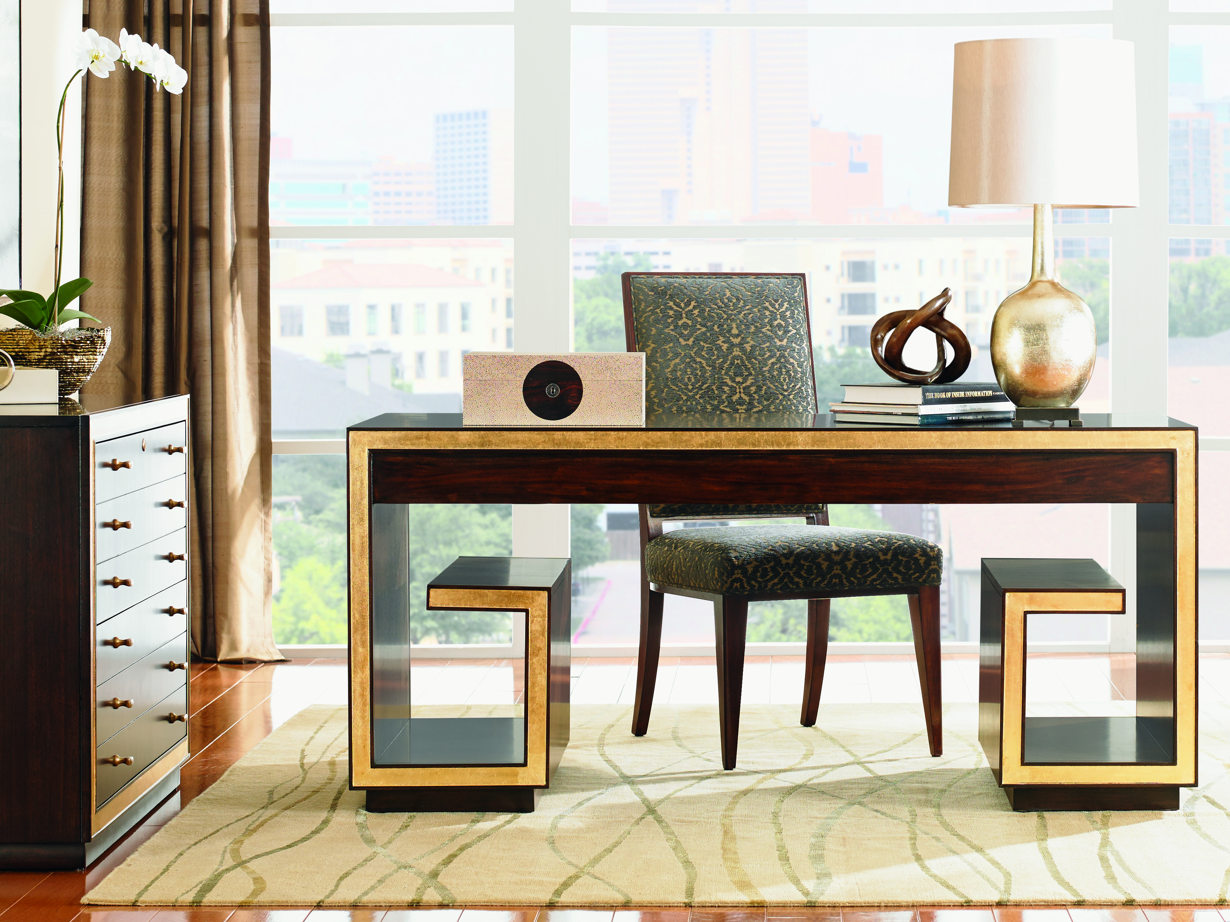 wooden table for work space by sprintz furniture plus chair and table standing lamp plus wheat carpet ideas