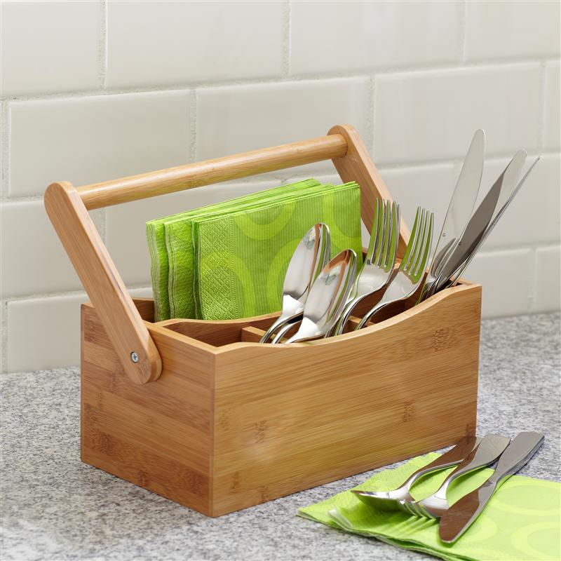 wooden Utensil Caddy with metal stand Design ideas