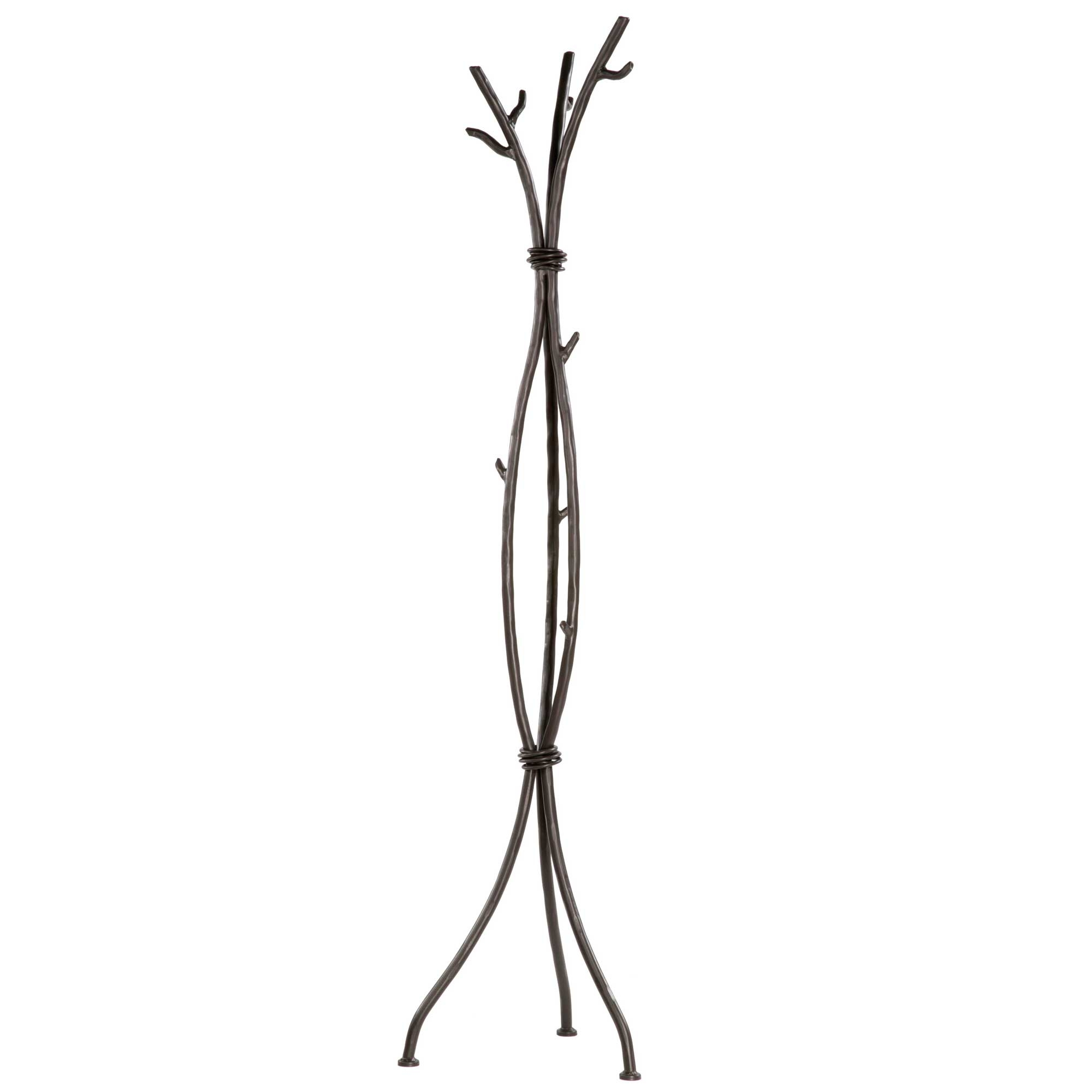 Wrought Iron Sassafras Standing Coat Rack in branch design