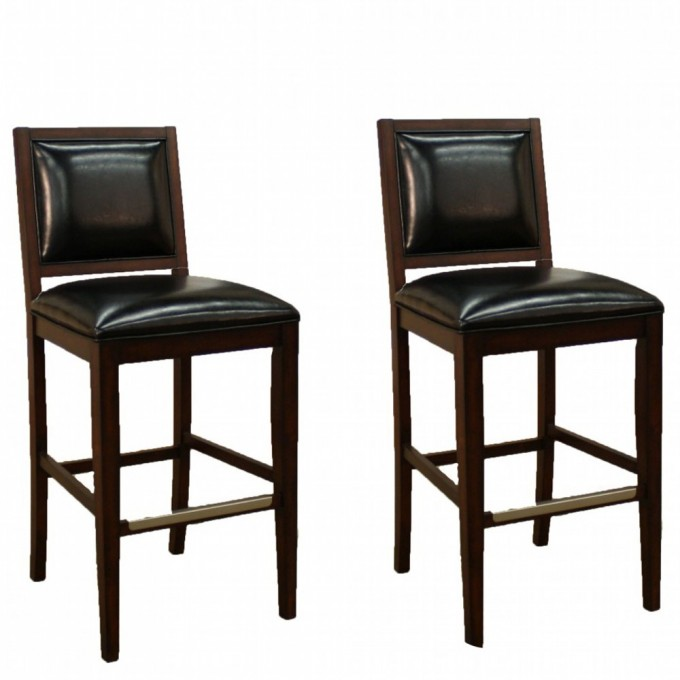 24 Inch Counter Stools In Black With Leather Seat For Home Furniture Ideas
