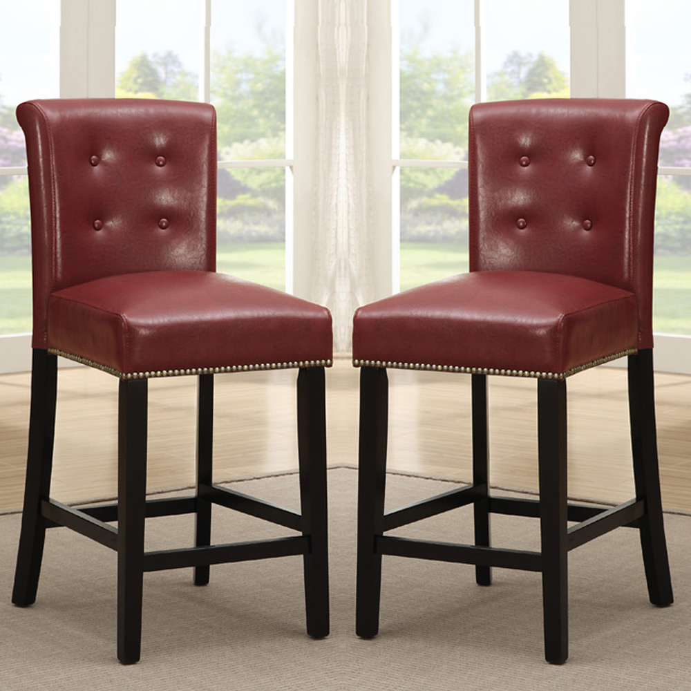 Elegant 24 Inch Counter Stools In Red For Home Furniture Ideas