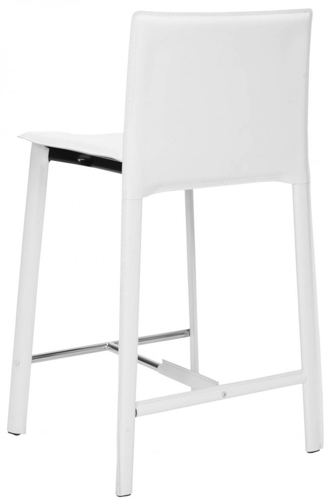 24 Inch Counter Stools In Solid White For Home Furniture Ideas