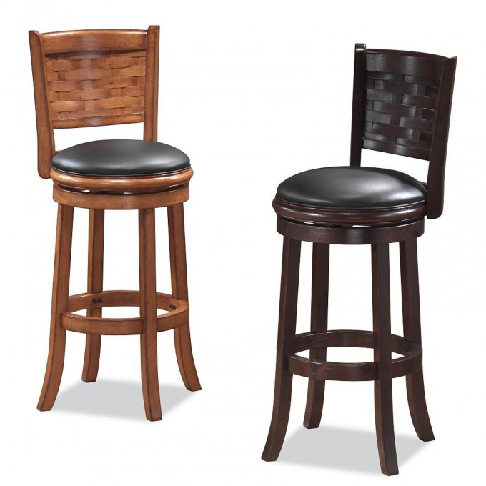 24 Inch Counter Stools With Black Leather Seat For Home Furniture Ideas
