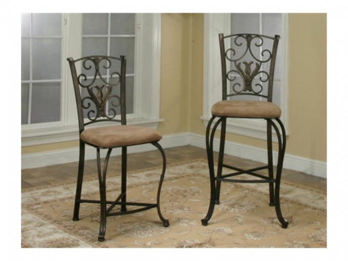 24 Inch Counter Stools With Curved Ornament On Back And Cream Seat For Home Furniture Ideas