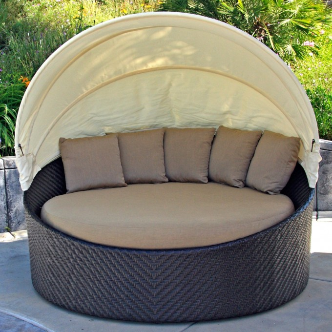 Accessible Beautiful Design Of Sunbrella Chair With Cream Sunbrella Cushions  For Home Furniture Ideas
