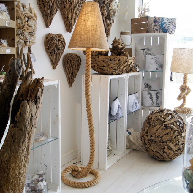 antique driftwood floor lamp in cream for home furniture ideas