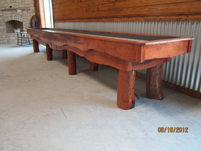 Antique Traditional Game Shuffleboard Table For Sale