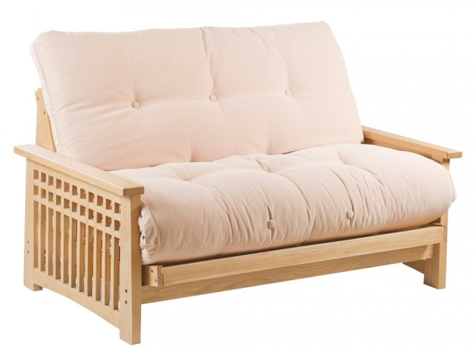 Antique White Cheap Futons With Wooden Frame Plus Arm For Home Furniture Ideas