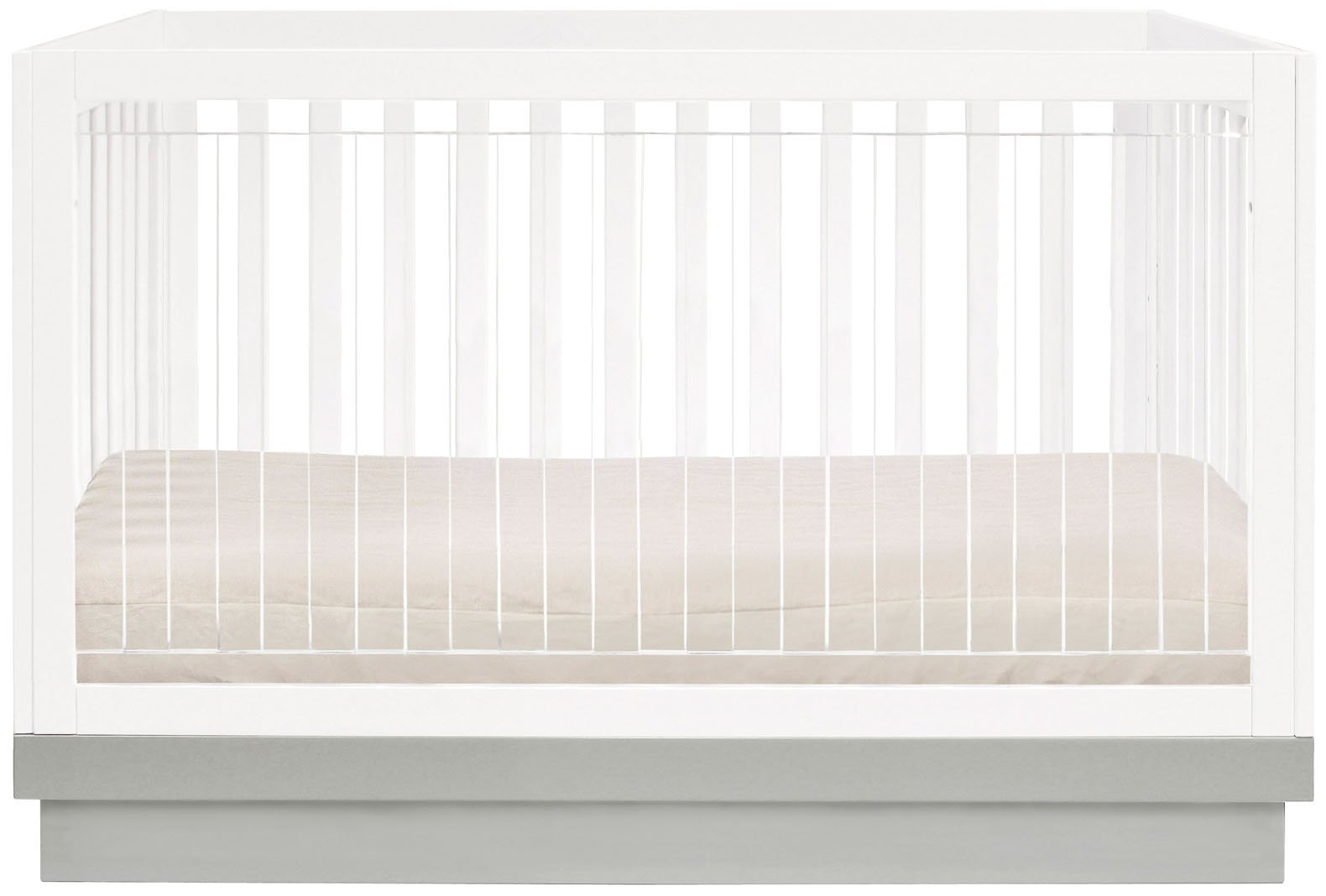 Babyletto Harlow Acrylic 3 in 1 Convertible Crib with Toddler Rail for nursery furniture ideas