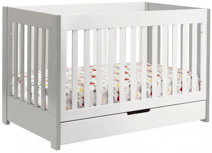 Babyletto Mercer 3 In 1 Convertible Crib White Free Shipping