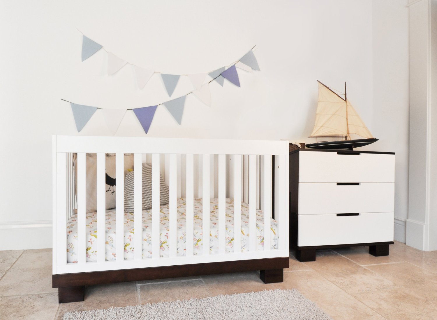 Babyletto Modo 3 In 1 Crib With Toddler Rail On Cream Floor For Nursery Furniture Ideas