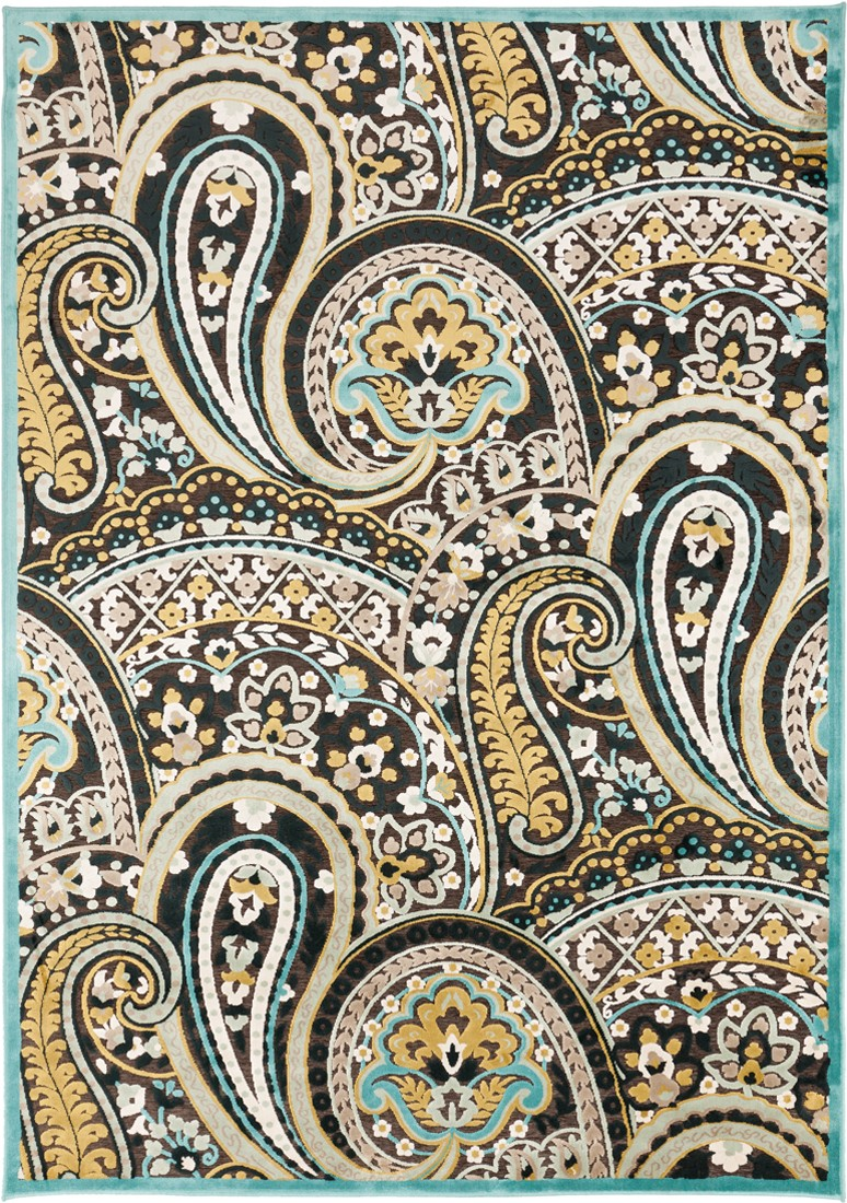 Basilica BSL 7199 Surya Rugs In Black With Floral Pattern And High Quality For Floor Decor Ideas