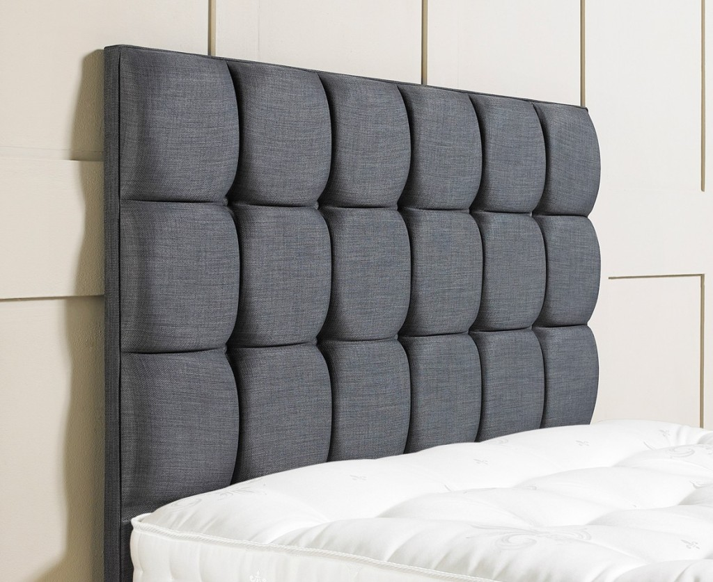 Bedroom Minimalist upholstered headboards in gray with white mattress for bedroom furniture ideas