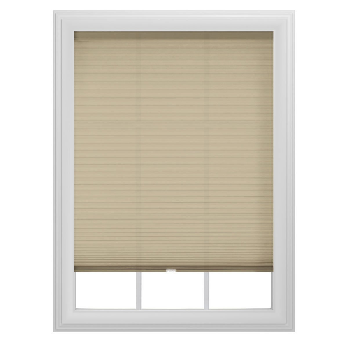 beige bali blinds on white window for home decor ideas