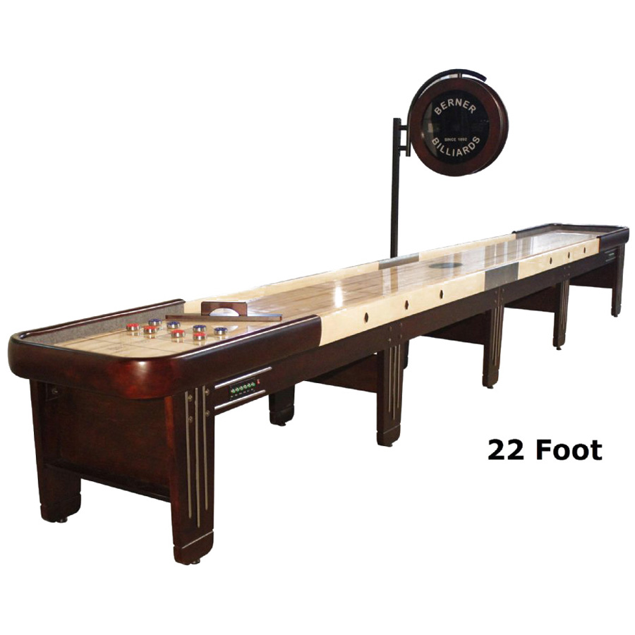 Berner Shuffleboard Table for Sale in dark brown wooden