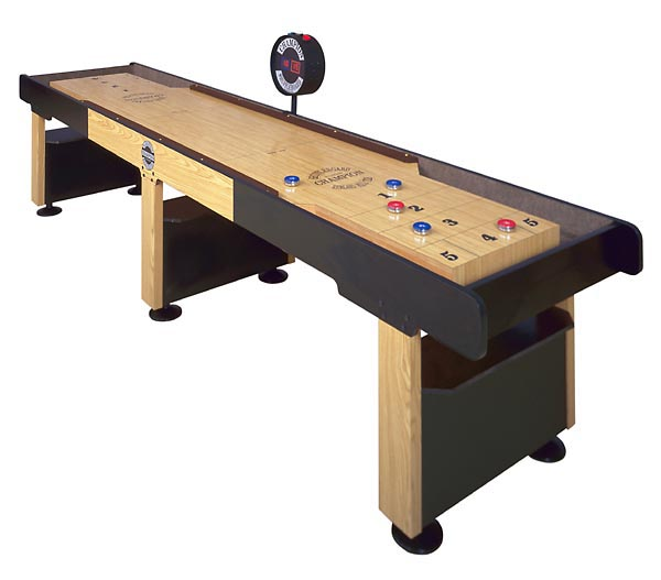 black and cream wooden traditional game shuffleboard table for sale