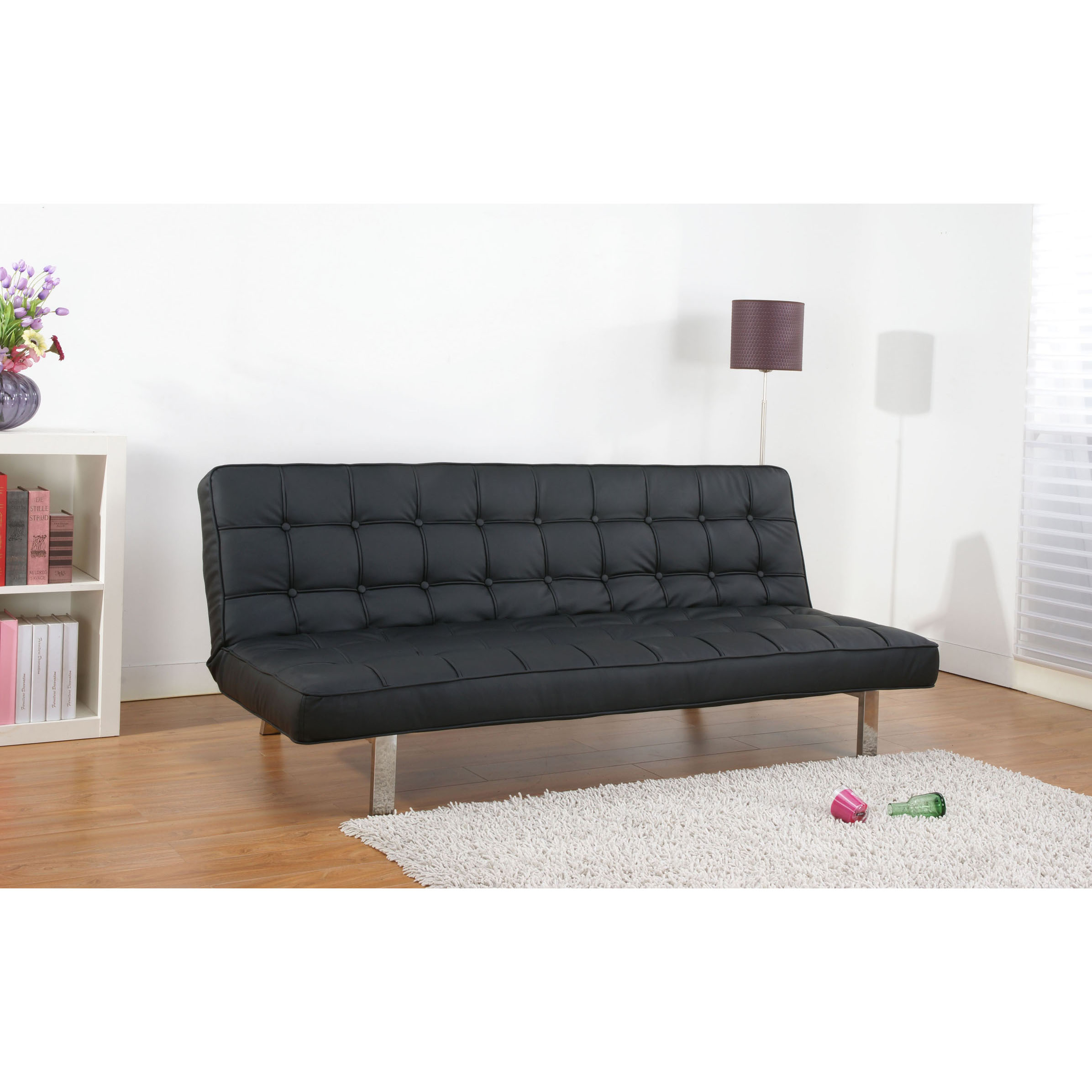 Comfortable Cheap Futons For Inspiring Home Furniture Ideas Black With Silver Legs On