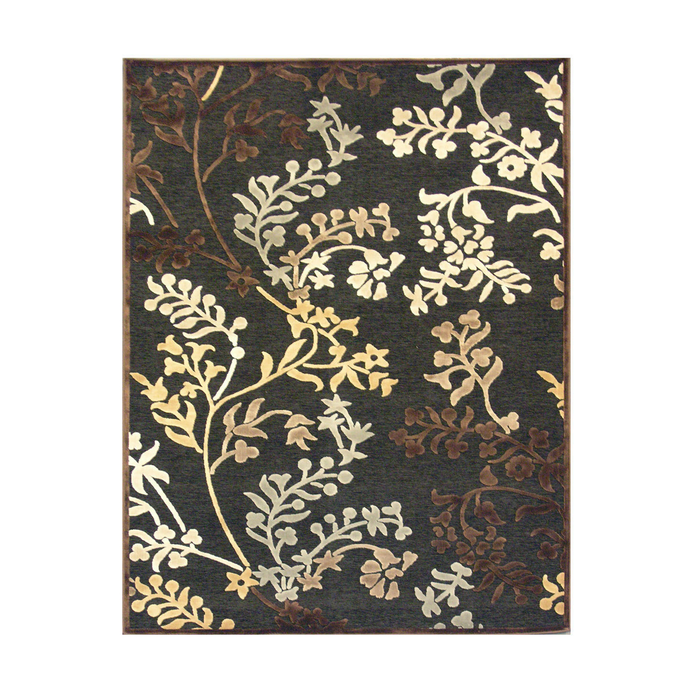 black lowes rugs with floral motif for floor decor ideas