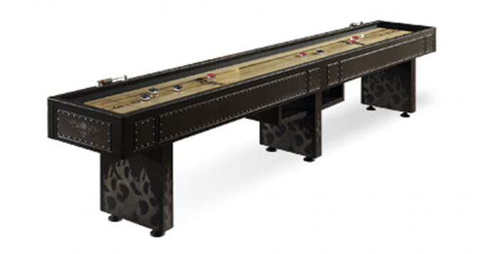 Black Wooden Shuffleboard Table For Sale For Traditional Game Ideas
