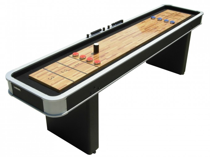 Black Wooden Shuffleboard Table For Sale