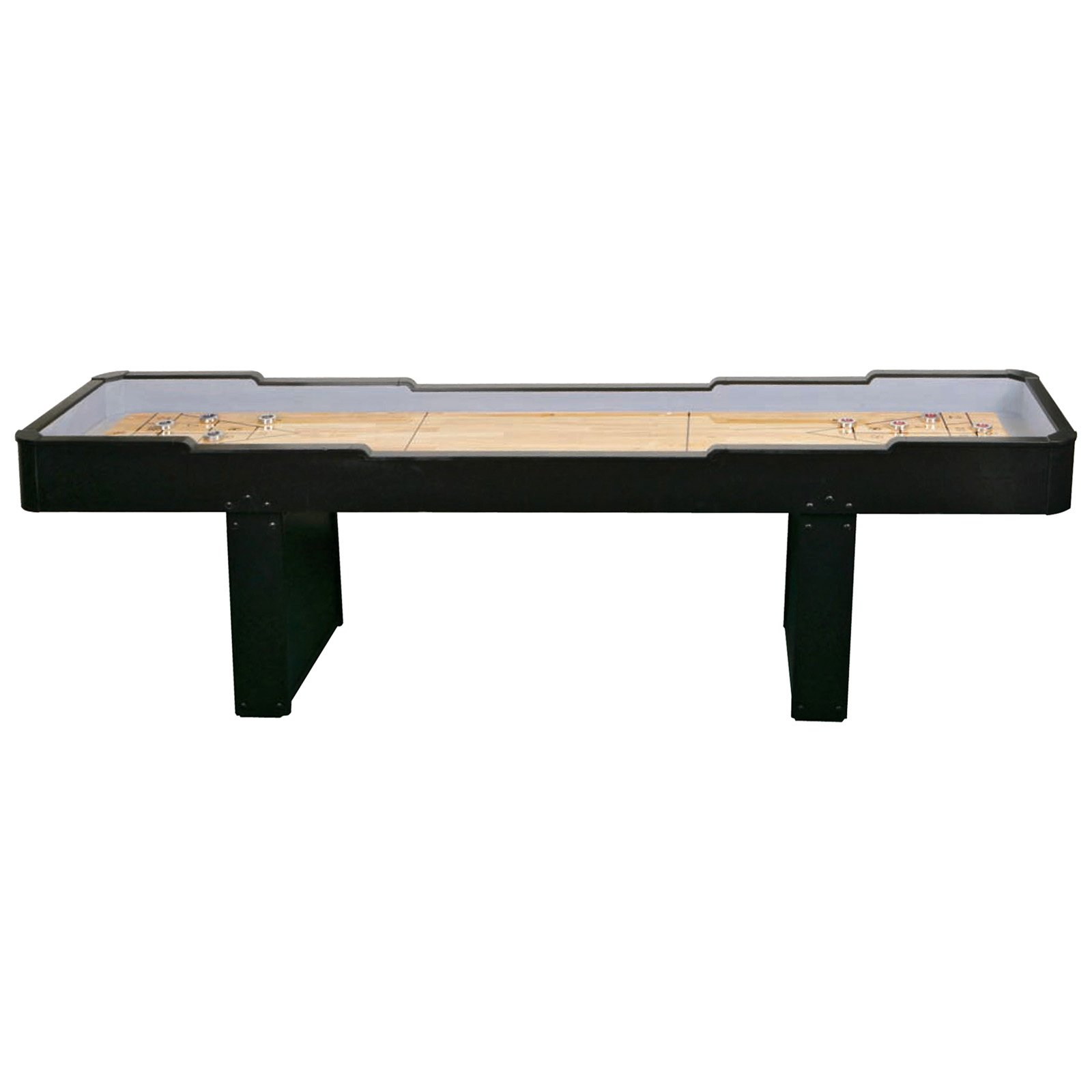 black wooden shuffleboard table for sale with double legs ideas