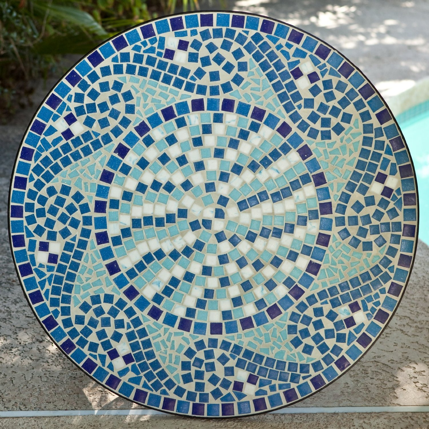 blue mosaic bistro table for home furniture ideas