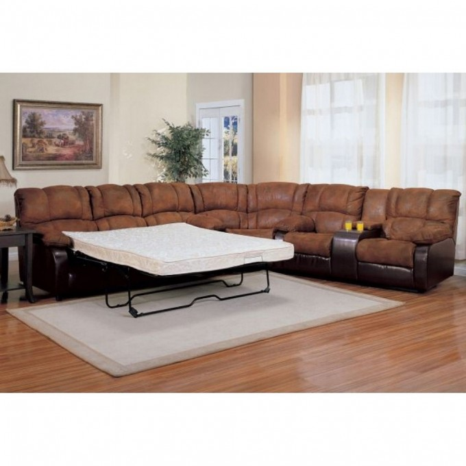 leather living room furniture ideas. Brown And Black Leather Sectional Sleeper Sofa On Wooden Floor Plus White  Carpet For Inspiring Living Decorating Comfortable Room