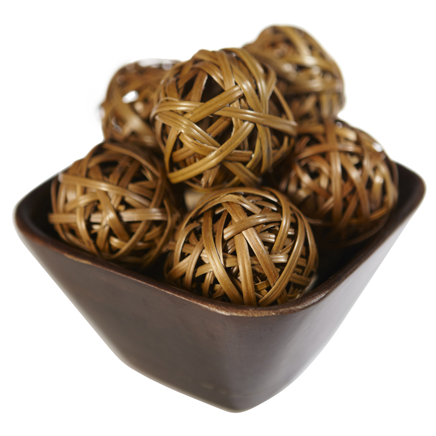 brown decorative orbs with dark brown bowl for charming table accessories ideas