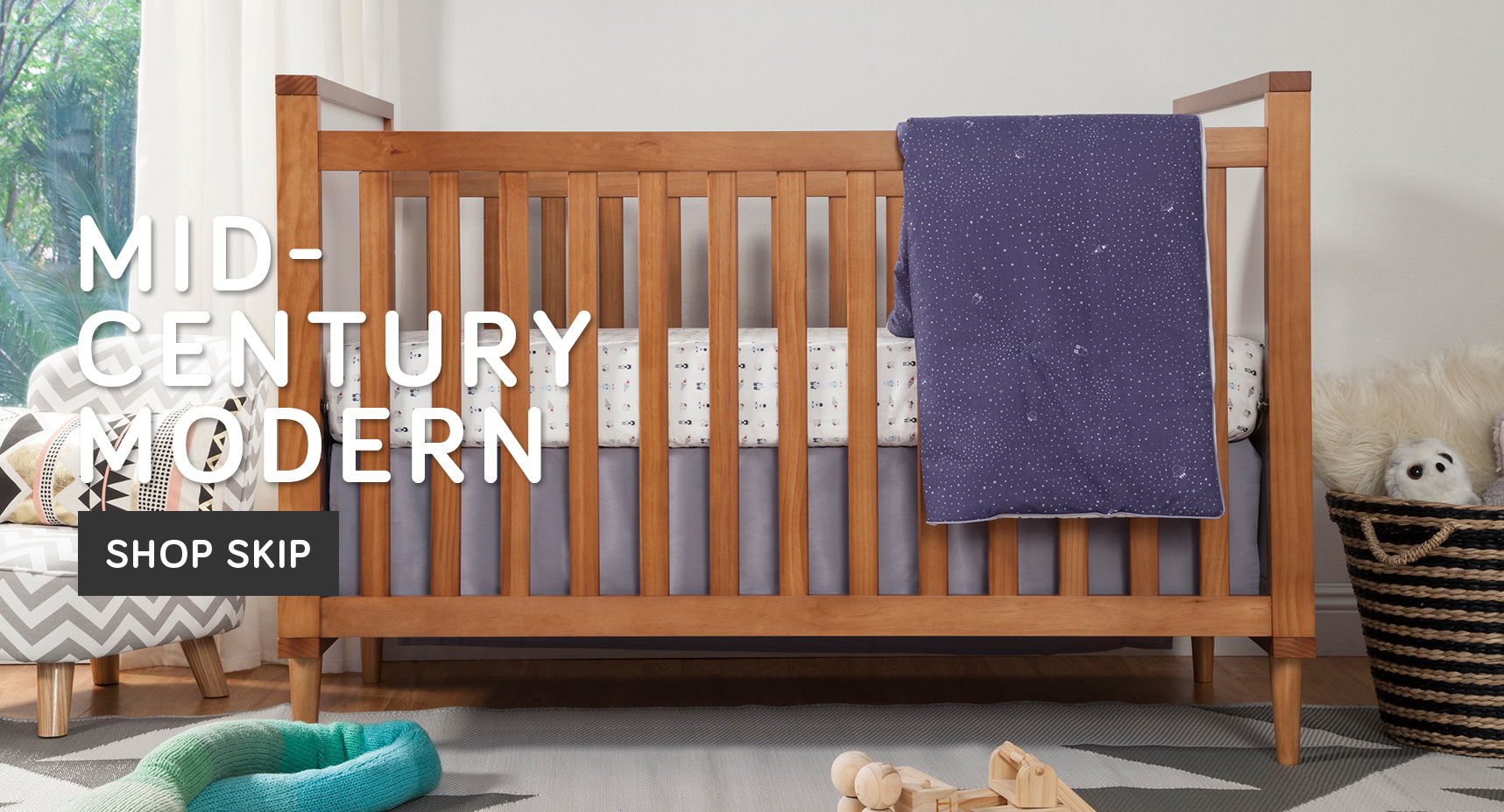 Brown Wooden Crib By Babyletto With White Bedding Before White Wall For Lovely Nursery Decor Ideas