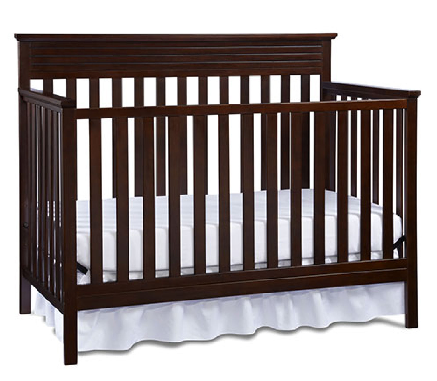 brown wooden crib by munire crib for nursery furniture ideas