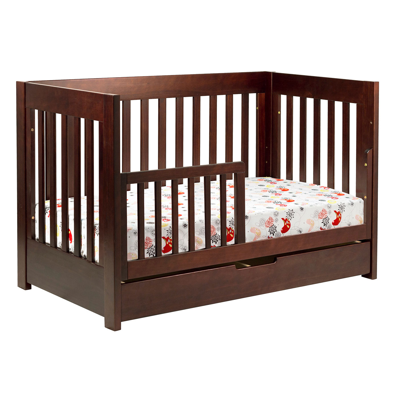 brown wooden crib by munire crib with storage for nursery furniture ideas