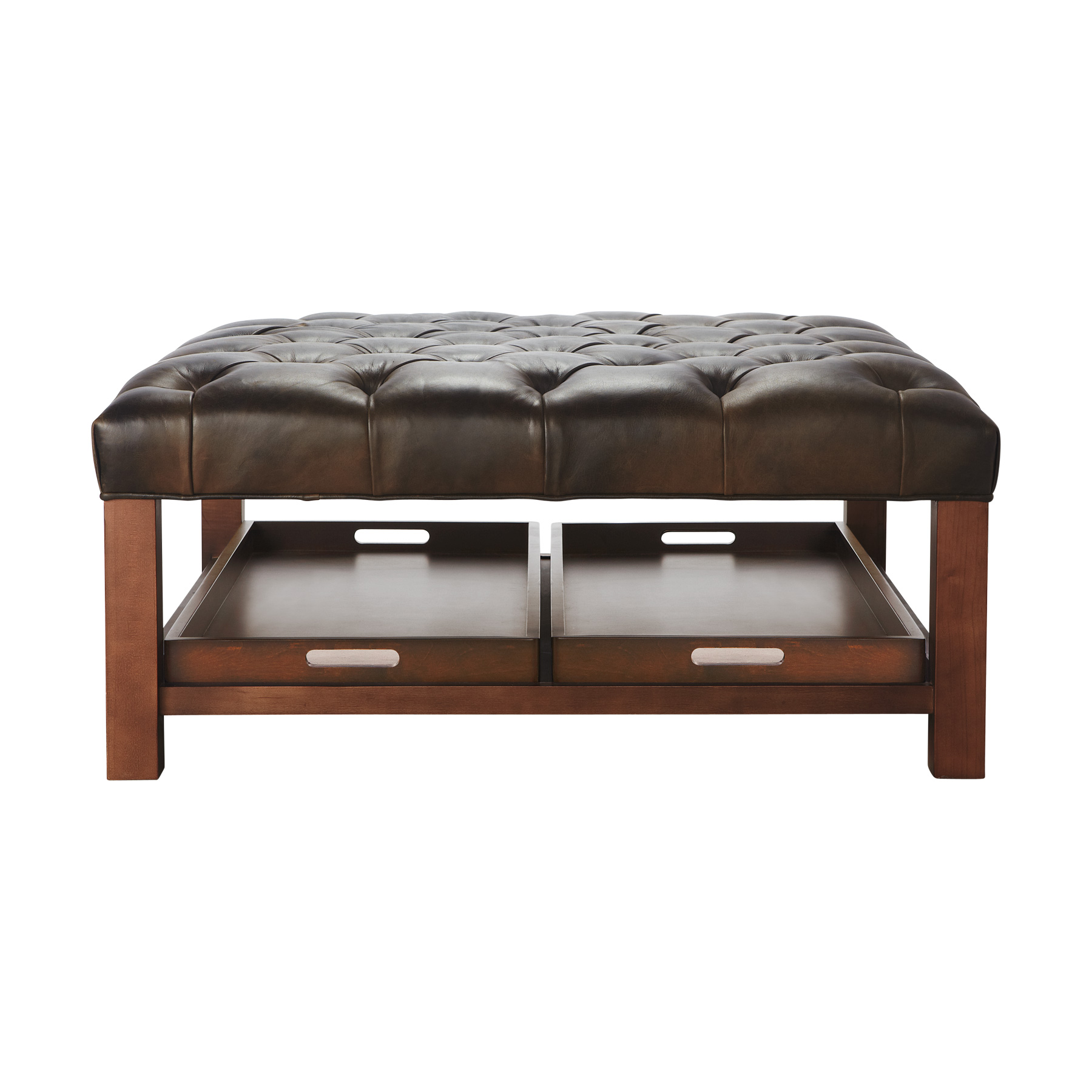 brown wooden large ottoman tray on brown ottoman for inspiring home furniture ideas